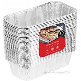 Aluminum Pans Mini Loaf Pans 30 Pack Disposable Aluminum Foil 1 Lb Small Bread Tin Pans 1 Pound Loaf Pans 6 x 3.5 x 2