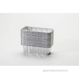 pinkada Loaf Pans Disposable Aluminum Foil 2lb Pans Size 8.5 x 4.5 x 2.5. Perfect size for Homemade Cakes & Breads 30