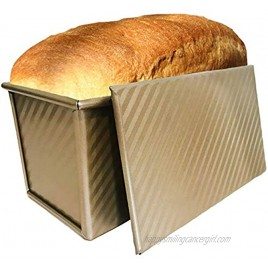 Pullman loaf pan with lid Bread pans for baking toast mold or sandwich loaf banana bread or sourdough bread pan with lid by Oak and Noble GOLD