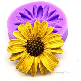 Chrysanthemum Silicone Mold,Flower Fondant Cake Baking Molds,Flowers Candy Cake Mould by Runloo -Purple