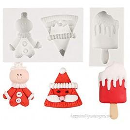 KALAIEN Christmas Silicone Cake Fondant Mold For Cupcake Decorating Craft Sugar Baking Mould Decor Mold Small