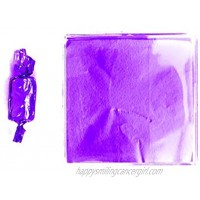 Linen and Bags 250 Foil Candy Wrappers for Chocolates Caramels Lollipops and Crafts 3x3 Purple