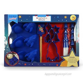 Handstand Kids 19-Piece Outer Space Baking Set with Recipes for Kids