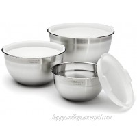Cuisinart CTG-00-SMB Stainless Steel Mixing Bowls with Lids Set of 3