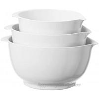 Oggi Mixing Bowl Set Set of 3 White
