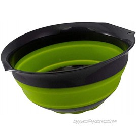 Squish 5 Quart Collapsible Mixing Bowl Green & Gray