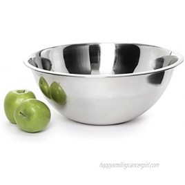 Stainless Steel Mixing Bowl Premium Polished Mirror Nesting Metal Bowl for Cooking and Serving Stackable for Convenient Storage 8 Quart