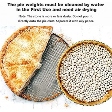 2.2Lb Ceramic Pie Weights Baking Beans Pie Crust Reusable 10mm Weights Natural Ceramic Stoneware with Wheat Straw Container 35 Oz Total White