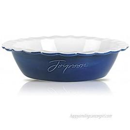 Joyroom Ceramic 9 Inches Pie Pan For Baking Ceramic Pie Dish Deep Dish Pie Pan Pie Plate Ceramic Baking Dish Pan for Dessert Round Baking Dish Letter Collection Indigo