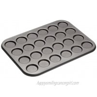 MasterClass Macaron Baking Tray Whoopie Pie Tin with PFOA Free Non Stick 24 Holes Robust 1 mm Carbon Steel 35 x 27 cm