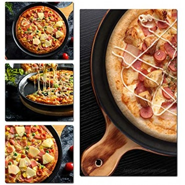 6-Piece Set Non-stick Pizza Pan & tools set Pizza Pan 12、8、6 Round Premium Bakeware Pizza Cutter 2.6'' Blade with Handle Pizza shovel 10.7'',Egg beater 10,Baking tray suitable for cakes