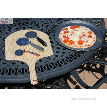 Chef Select Round Non-Stick Pizza Pan Set | 16-Inch Solid Pizza Pan & 14-Inch Crisper Pan with Holes Metal Bakeware for Oven