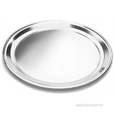 Fox Run 16 Pizza Pan Stainless Steel 16-Inch Round Tray Silver 4497