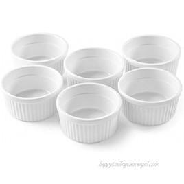 Bellemain Porcelain Ramekins set of 6 White 4 oz.
