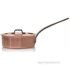 Baumalu High Sided Frying Pan + Lid Solid Copper 22cm