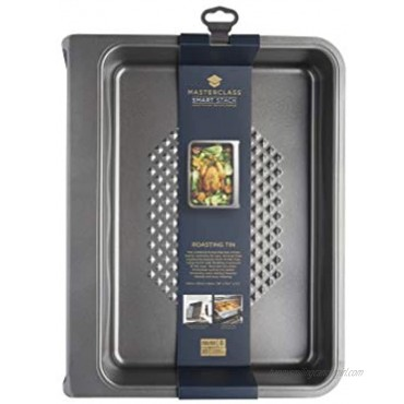 MasterClass Smart Vertical Stacking Roasting Tin with Non Stick Finish 41 x 33 x 8.5 cm