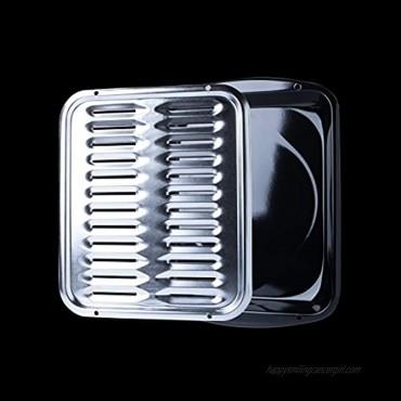 Range Kleen BP100 Porcelain Broiler Pan with Chrome Grill 2-piece