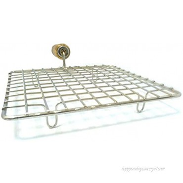 Stainless Steel Wire Roaster Papad Jali Stainless Steel Square Roasting Net Papad Grill Roti Jali Chapathi Grill with Wooden Handle Stainless Steel Wire Roaster Rack Papad Net