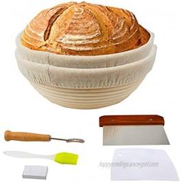 9 inch Banneton Basket for Baking Sourdough Lame Bread Round Bread Basket with Linen Liner Beatiful Proofing Baskets in Kitchen