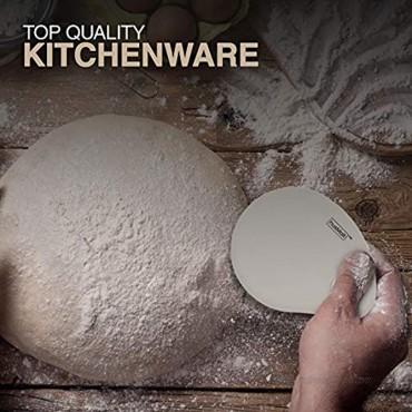 husMait Flour Scraper Set of 2 Kitchen Scrapers for Scraping Flour Dough and More