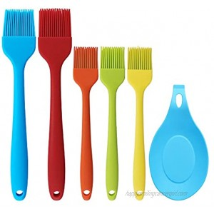 Inswork Silicone Basting Brush Heat Resistant Brushes for BBQ & Pastries Oil Baking 6 Pack