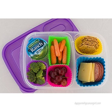 Pantry Elements Silicone Baking Cups Variety Pack Bento Bundle Lunch Box Dividers 18-Pack