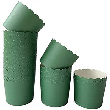 Paper Baking Cups 90-Pack 6 Oz Greaseproof Baking Cups Cupcake Muffin Cases Disposable Cupcake Wrappers For Birthday Baby Shower Wedding And Party-Pure Blue Pink And Green Color
