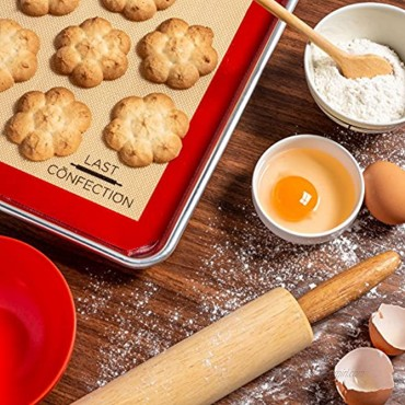 Last Confection Silicone Baking Mat Set of 3 Non-Stick Professional Food Safe Tray Pan Liners 2 Half Sheet 11-5 8 x 16-1 2 1 Quarter Sheet 8-1 2 x 11-1 2