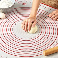 Pastry Mat for Rolling Dough WeGuard 20x16 Large Silicone Pastry Kneading Mat Board with Measurements Marking BPA Free Food Grade Non-stick Non-slip Rolling Dough Baking Mat Red