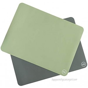 The Silicone Kitchen Silicone Oven Baking Mats Set of Two | Non-Stick | Non-Slip | BPA Free | Extra Thick | Half Sheet 16x11.75 Green Gray