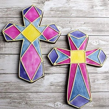 Ann Clark Cookie Cutters 3-Piece Cross Cookie Cutter Set with Recipe Booklet Holy Cross Extra Large Cross Fancy Cross
