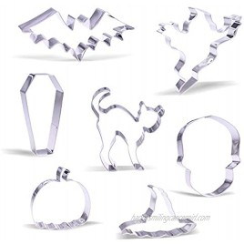 Large Halloween Cookie Cutter Set 7 Piece Stainless Steel