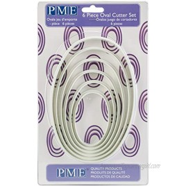 PME PNO3 Oval Cutters for Cake Decorating Set of 6