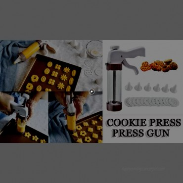 Cookie Press Gun 13-Piece Multifunctional Cookie Press Kit with 6 Icing Tips perfect for for DIY Biscuit Maker and Cake Decoration