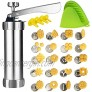 Cookie Press,Spritz Cookie Press Gun Kit DIY Biscuit maker and Churro Maker with 20 Decorative Stencil Discs and 4 Icing Tips for Funny Kitchen-By ZZmx