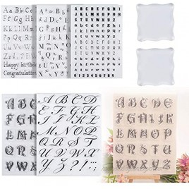 7 Pcs Alphabet Cake Stamp Tool Reusable Numbers Fondant Cake Stamp with Back Plate Diy Cookie Stamps for Baking Fondant Tools Cake Letters
