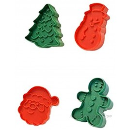 R&M International 0 Christmas Double-Sided Cookie Stamper Set Assorted Designs 4-Piece Set