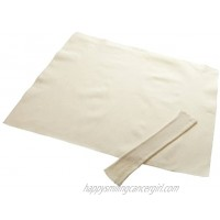 Regency Wraps Regency Natural Pastry Cloth & Rolling Pin Cover Set 100% Cotton