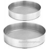 2 Packs of 304 Stainless Steel Fine Flour Sieve 60 Mesh Round Cake Sieve Bread Sieve Used for Baking Cakes Pies Pastries Cupcakes 6 inches and 8 inches