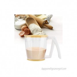 Flour Sifter Plastic Flour Strainer Powder Mesh Sieve Flour Sifter Baking Supplies Tools with Lid mechanic Flour Sifter for Baking and Powdered Sugar