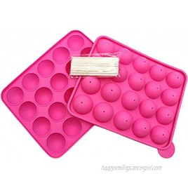 Songshu 20 Cavity Silicone Cake Pop Mold ,Cake Pop Maker,Great For Lollipop Hard Candy Cake and Chocolate.