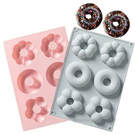 2 PCS Silicone Donut Molds for Baking 100% Nonstick Donut Pans Donut Mold for Donuts Bagels and More  Small