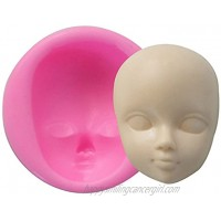 Carunke Fondant Decoration Mould Candy Clay Girl Face Moulds Chocolate Molds