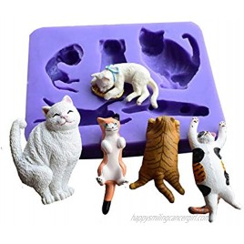 Cute Cats Silicone Mold Runloo Cats Cake decoration tool chocolate mold fondant mold Candy silicone mold
