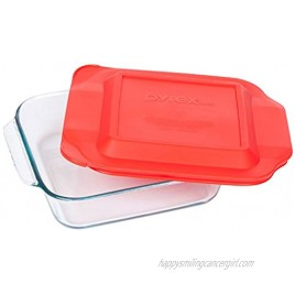 Pyrex 8 Inch Square Baking Dish Red 8-inches