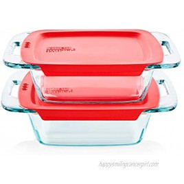 Pyrex Easy Grab Baking Dish with lid Food Storage 8 x 8