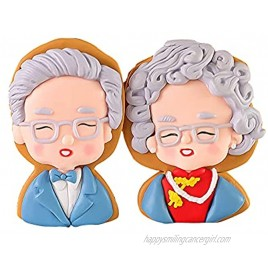 Elderly Couple Cake Toppers Grandmother Grandfather Anniversary Wedding Cake Topper Figurines