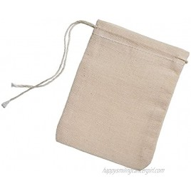 Cotton Muslin Bags 100 Count 2.75 x 3.75 inches Natural Drawstring made with 100% cotton in the USA by Celestial Gifts