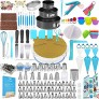 Cake Decorating Tools 512 pcs Cake Decorating Kit with Cake Turntable Cake Decorating Supplies with Frosting Tips and Bags 102 Icing Piping Bags and Tips Set Cake with 62 Piping Tips Other Cake Tools