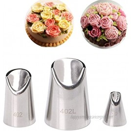FantasyDay 3 piece Stainless Steel Piping Tips Piping Nozzles Cake Decorating Supplies Cookies Cupcake Icing Decorating Supplies Decorating Kits Frosting Icing Tips Baking Set Tools With Coupler